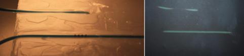 Blocco di paraffina con tubicino percorso da acqua calda